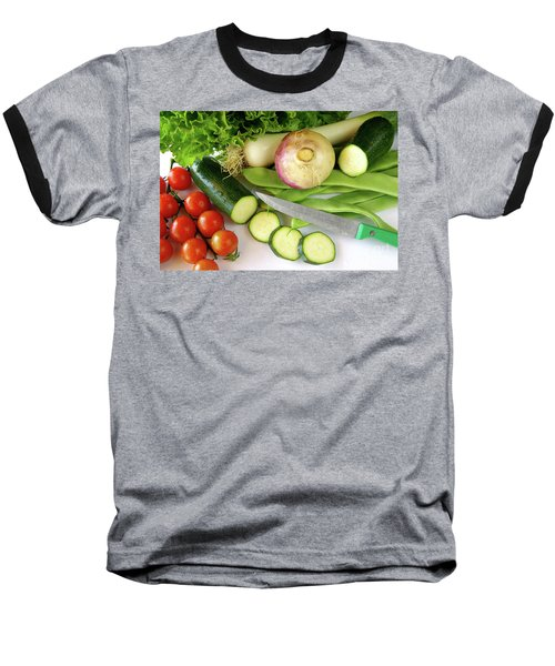 Fresh Vegetables Baseball T-Shirt by Carlos Caetano