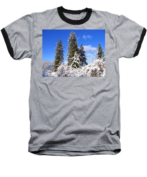 Baseball T-Shirt featuring the photograph Fresh Winter Solitude by Will Borden