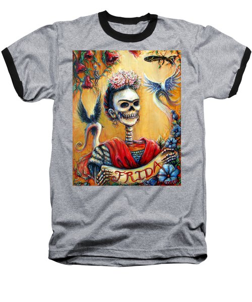 Frida Baseball T-Shirt by Heather Calderon