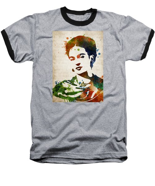 Frida Kahlo Baseball T-Shirt by Mihaela Pater