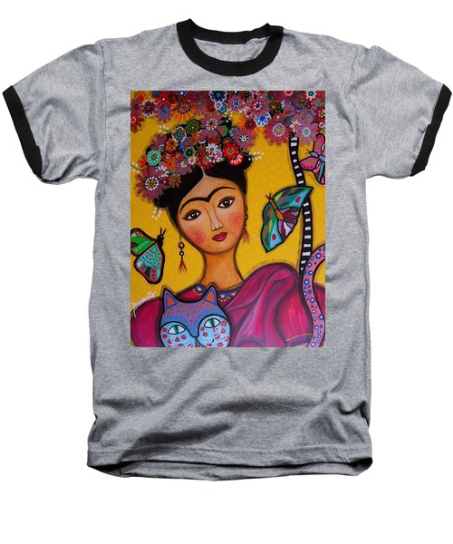 Frida Kahlo Baseball T-Shirt