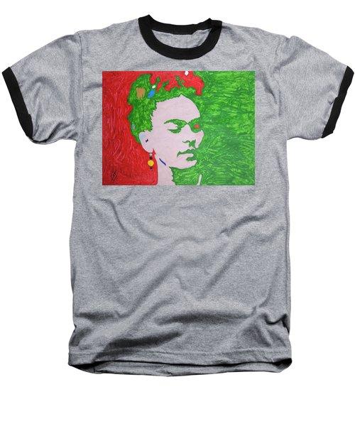 Frida Kahlo Baseball T-Shirt by Stormm Bradshaw