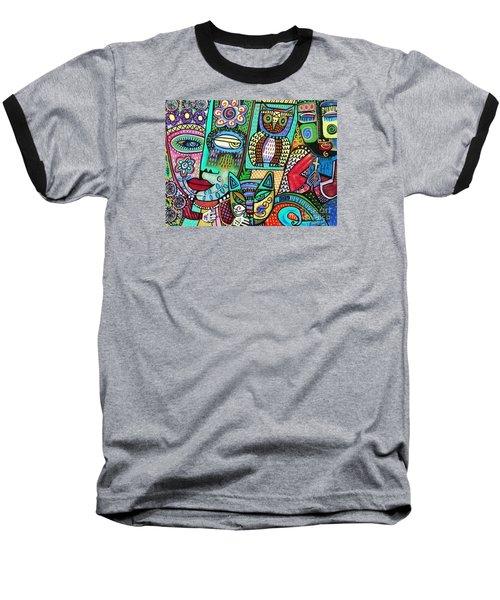 -frida's Garden Owl And Cat Baseball T-Shirt