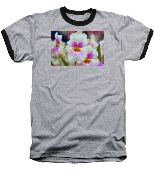 Friday Flowers Baseball T-Shirt by Nadia Sanowar