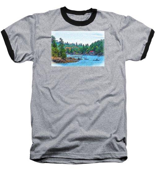 Friday Harbor Sketched Baseball T-Shirt