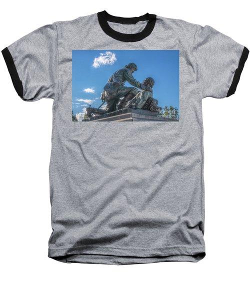 Friend To Friend Monument Gettysburg Baseball T-Shirt by Randy Steele