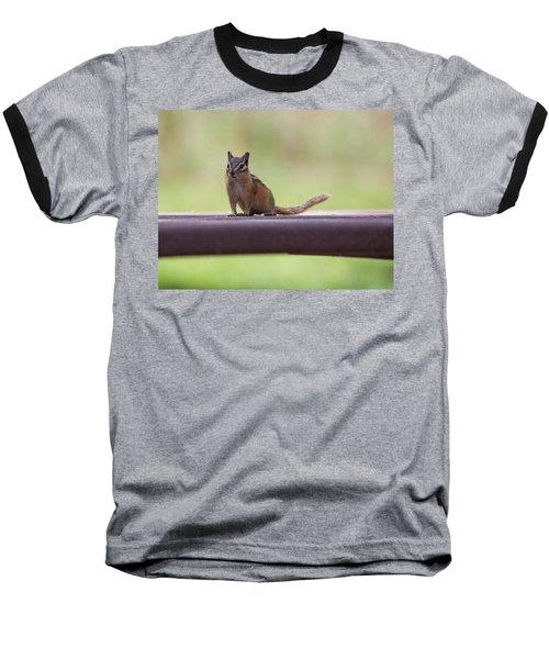 Baseball T-Shirt featuring the photograph Friendly Chipmunk by Fran Riley