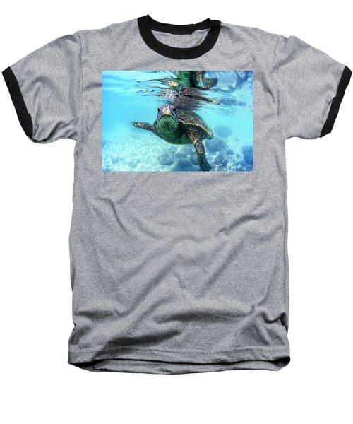 friendly Hawaiian sea turtle  Baseball T-Shirt