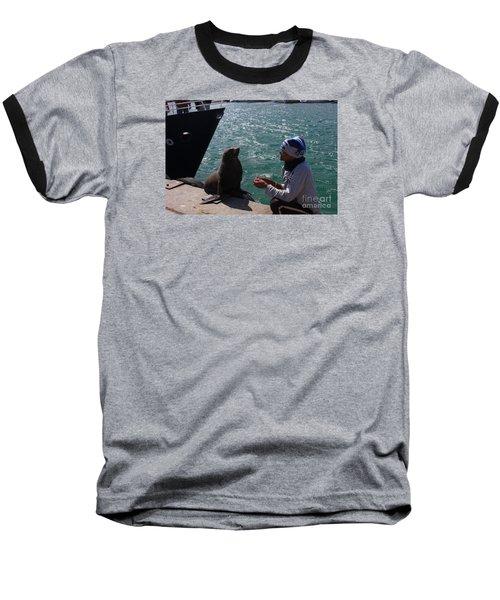 Friendly Seal Baseball T-Shirt