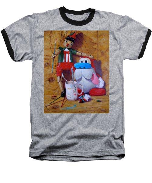Friends 2  -  Pinocchio And Stimpy   Baseball T-Shirt