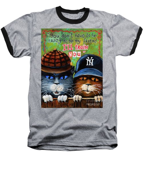 Friends Baseball T-Shirt by Igor Postash