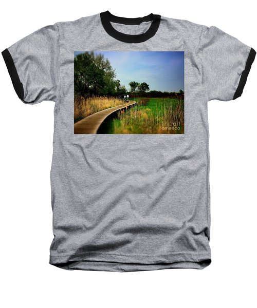 Friends Walking The Wetlands Trail Baseball T-Shirt