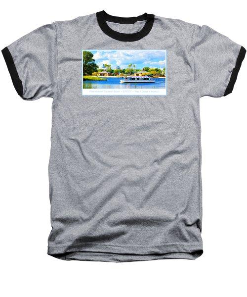 Friendship Boat On The Lagoon Epcot Walt Disney World Baseball T-Shirt