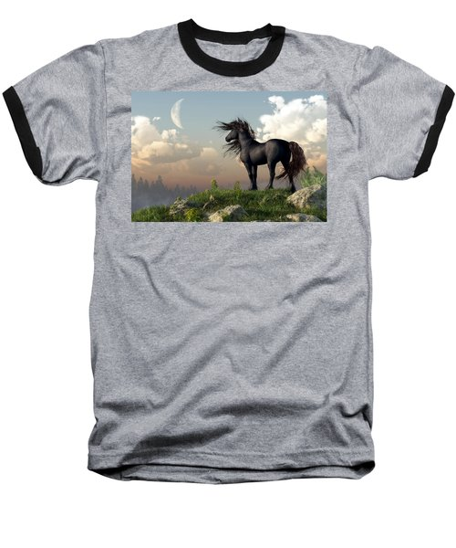 Friesian Moon Baseball T-Shirt