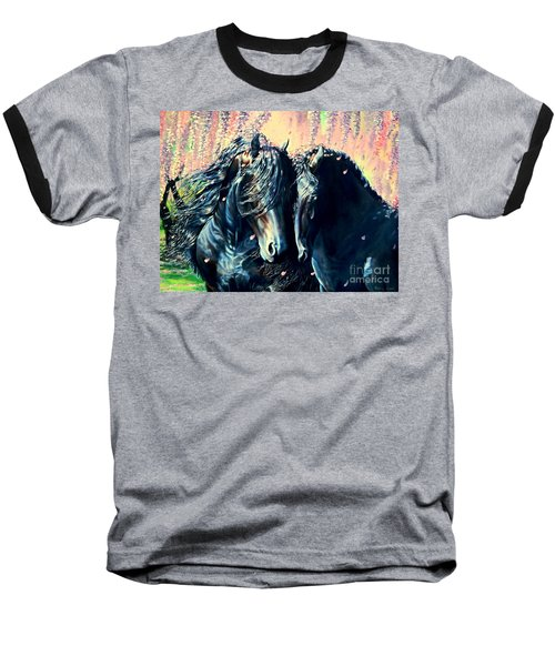 A Friesian Romance Baseball T-Shirt