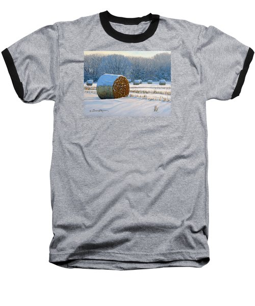 Frigid Morning Bales Baseball T-Shirt