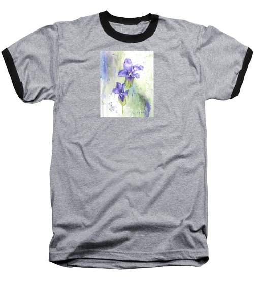 Fringed Gentian Baseball T-Shirt