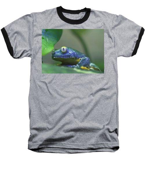 Fringed Leaf Frog Baseball T-Shirt by Katherine White