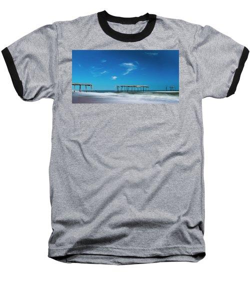 Frisco Fishing Pier In North Carolina Panorama Baseball T-Shirt