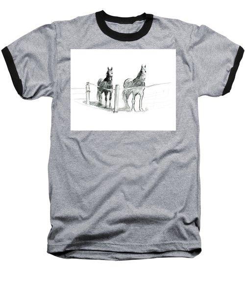 Friesian Horses Baseball T-Shirt