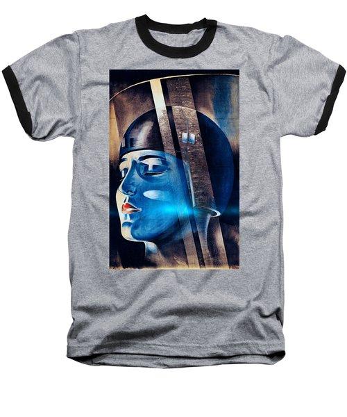 Fritz Langs Metropolis Movie Poster 1926 Baseball T-Shirt