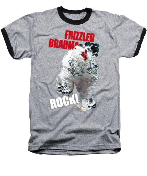 Frizzled Brahma T-shirt Print Baseball T-Shirt
