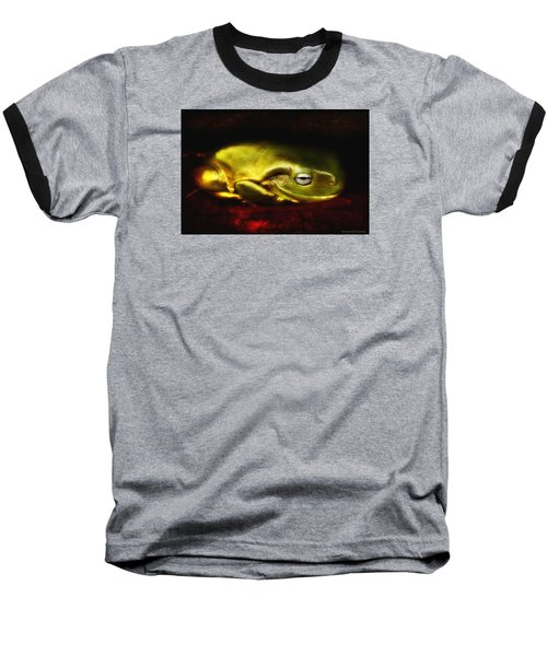 Baseball T-Shirt featuring the photograph Frog Art 01 by Kevin Chippindall