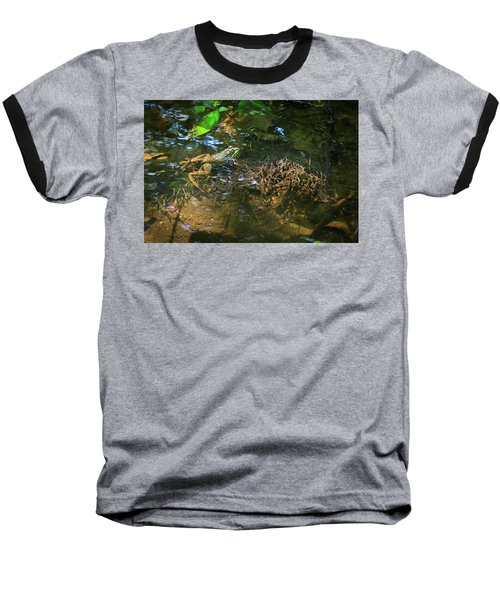 Baseball T-Shirt featuring the photograph Frog Days Of Summer by Bill Pevlor