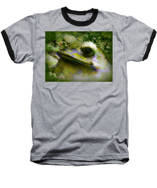 Baseball T-Shirt featuring the photograph Frog In The Pond by Lori Seaman