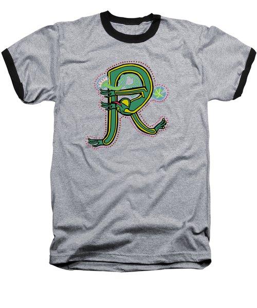 Frog Letter R Blue Baseball T-Shirt