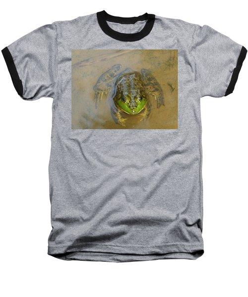 Frog Of Lake Redman Baseball T-Shirt by Donald C Morgan