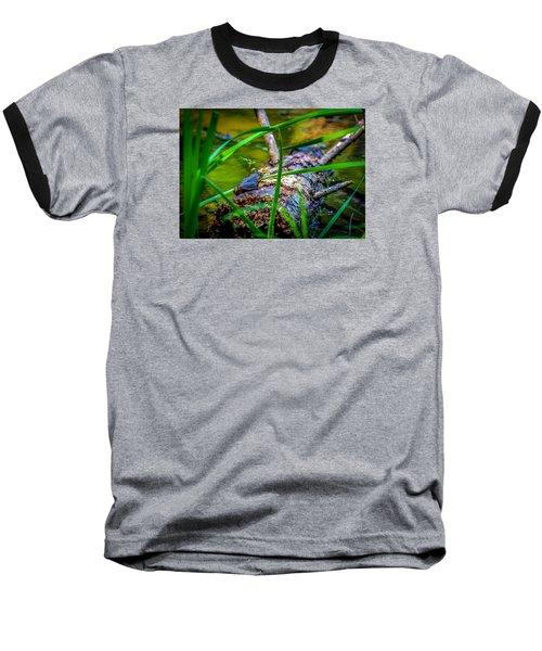 Frog On A Log 1 Baseball T-Shirt