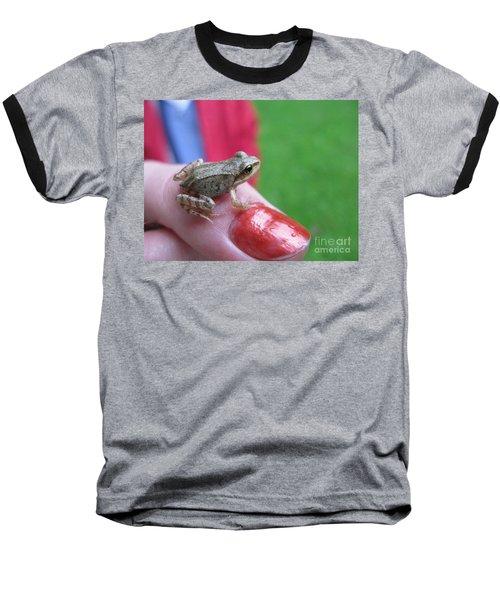 Baseball T-Shirt featuring the photograph Frog The Prince by Ausra Huntington nee Paulauskaite