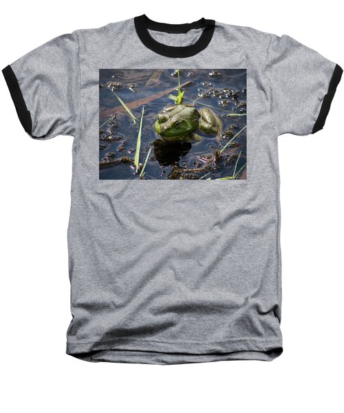 Baseball T-Shirt featuring the photograph Frog  by Trace Kittrell