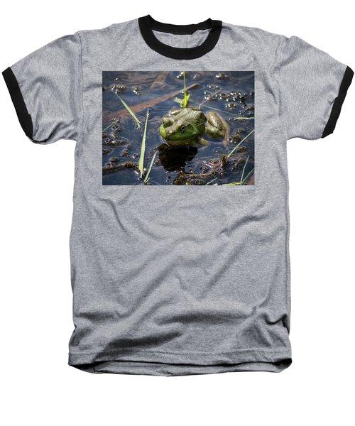 Frog  Baseball T-Shirt by Trace Kittrell