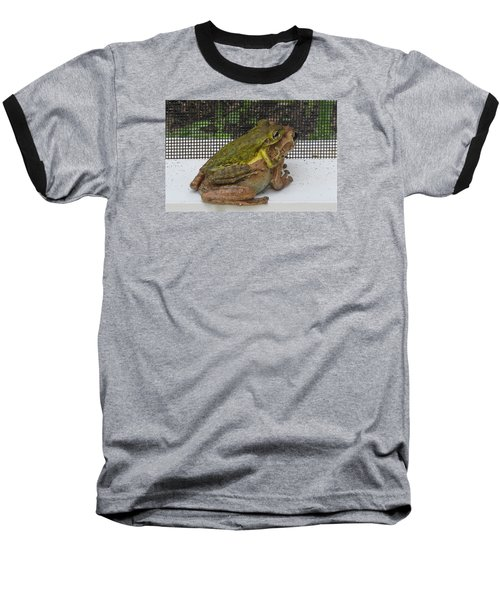 Baseball T-Shirt featuring the photograph Froggy Love by Melinda Saminski