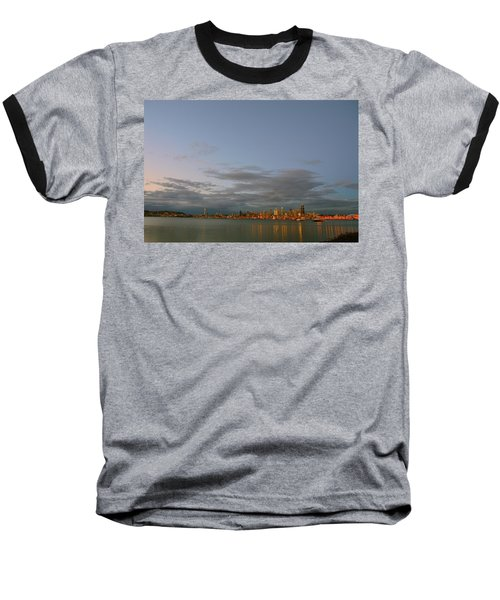 From Alki - Cloudy Night Baseball T-Shirt