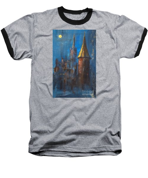 Baseball T-Shirt featuring the painting From Medieval Times by Arturas Slapsys