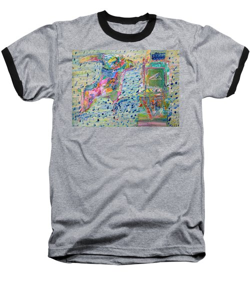 Baseball T-Shirt featuring the painting From The Altered City by Fabrizio Cassetta