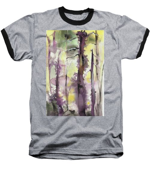 Baseball T-Shirt featuring the painting From The Fire by Nadine Dennis