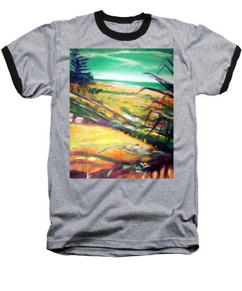 Baseball T-Shirt featuring the painting From The Lawn Pandanus by Winsome Gunning