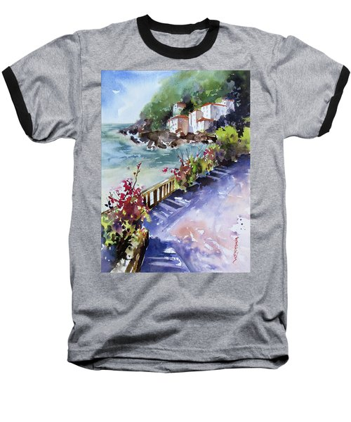 From The Walkway Baseball T-Shirt by Rae Andrews