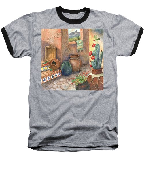 Baseball T-Shirt featuring the painting From This Earth by Marilyn Smith