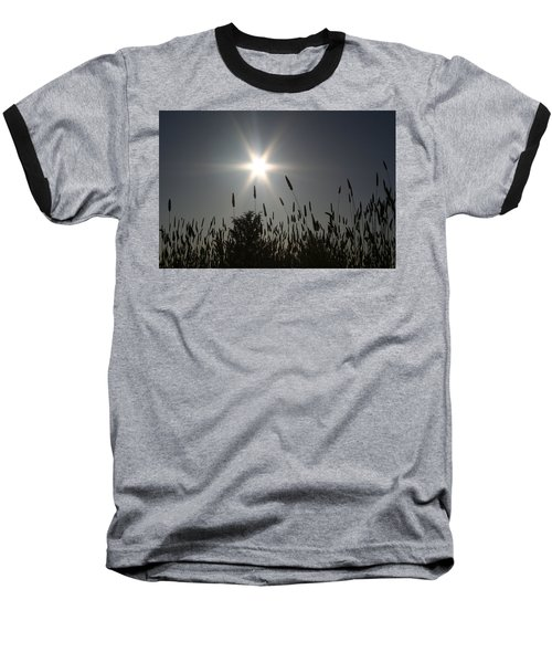 From Where I Sit Baseball T-Shirt by Holly Ethan