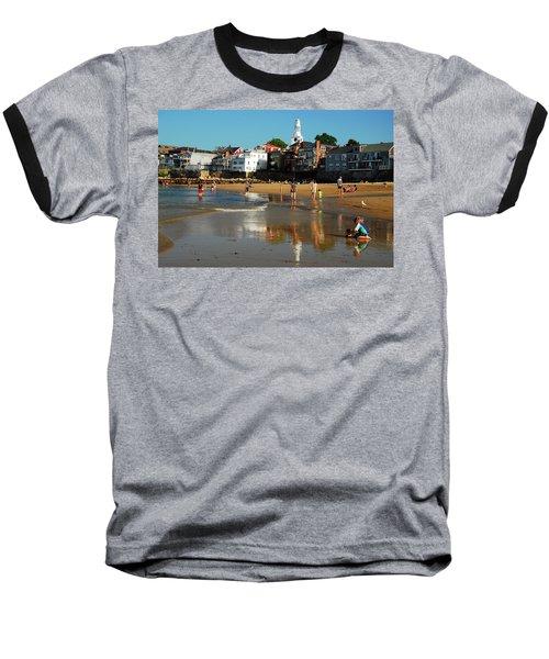 Front Beach Baseball T-Shirt by James Kirkikis