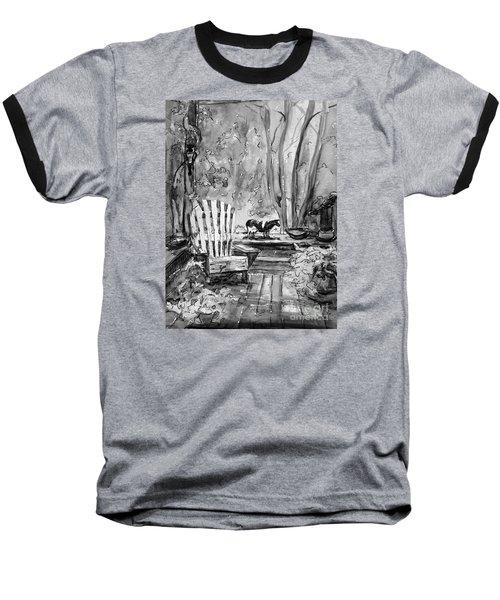 Front Deck Bw Baseball T-Shirt