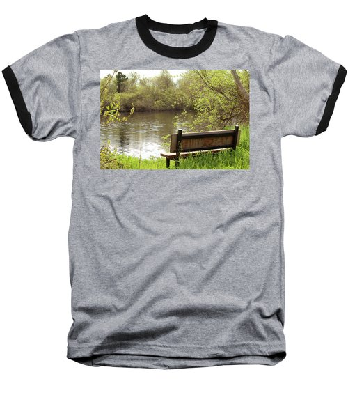 Baseball T-Shirt featuring the photograph Front Row Seat by Art Block Collections