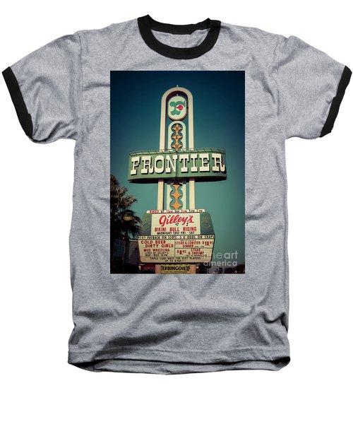 Frontier Hotel Sign, Las Vegas Baseball T-Shirt