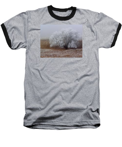 Frost And Fog Baseball T-Shirt by Alana Thrower
