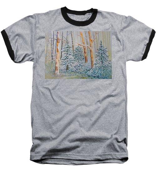 Winter Frost Baseball T-Shirt by Joanne Smoley